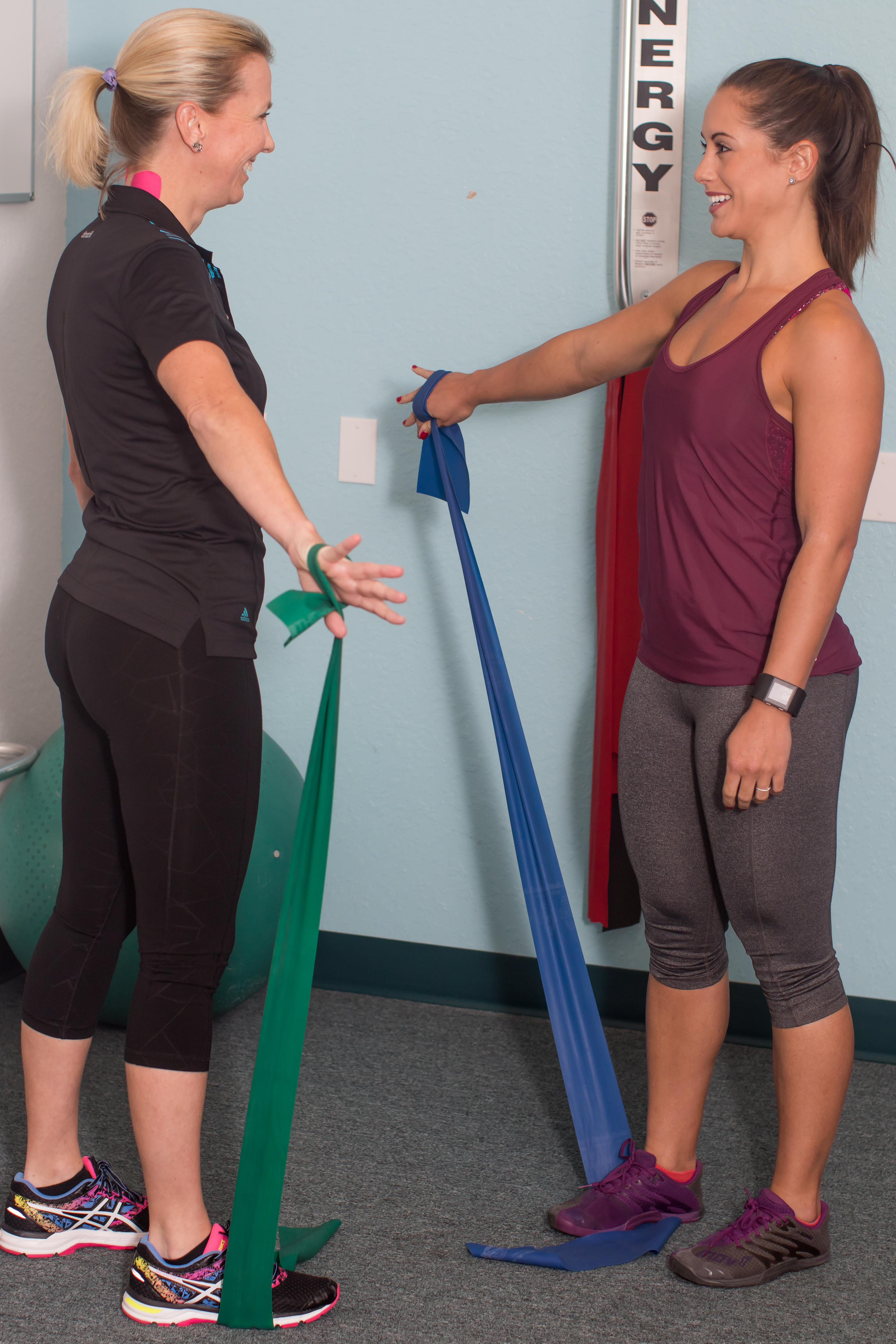 athlete woman getting physical rehab at Buchanan Health Center in Leesburg